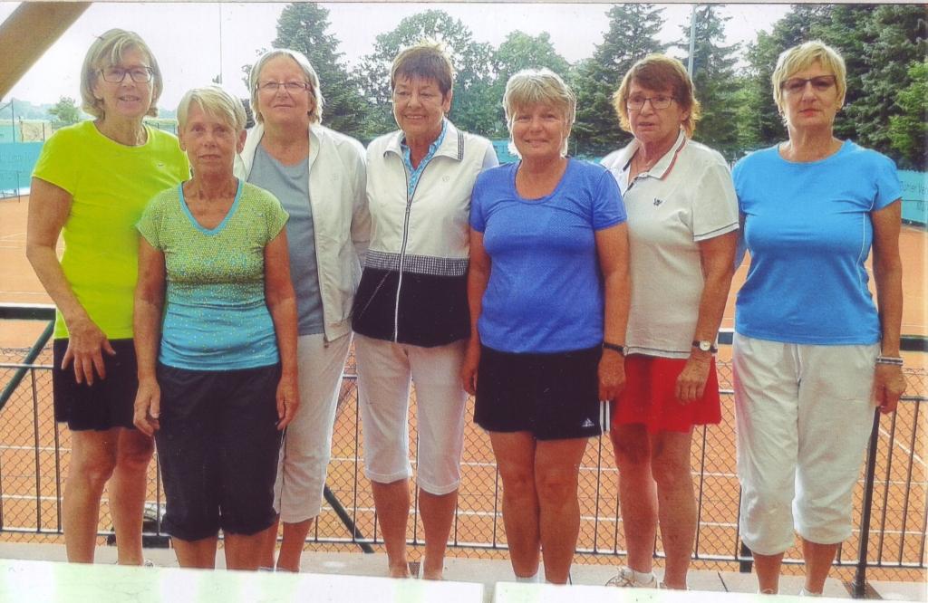 Mannschaftsfoto v.l.n.r. Margot Wild, Elisabeth Straub, Simone Lemmerhofer, Renate Herbst, Edeltraud Fischer, Helga Schmidt, Marianne Kopf. Auf dem Foto fehlt Hildegard Hörig.